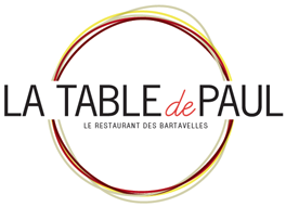 La Table de Paul logo, restaurant bar Embrun Serre Ponçon, Les Bartavelles