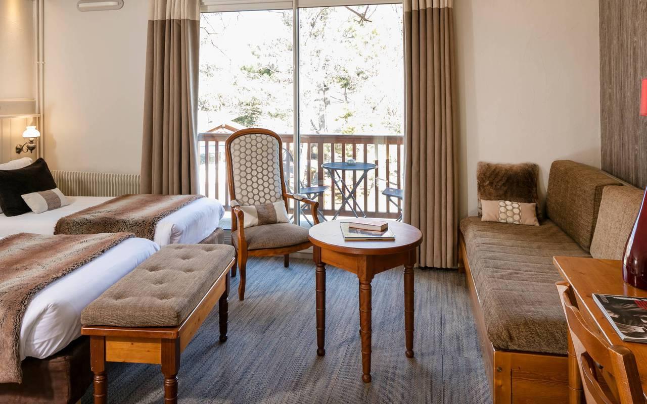 Chambre avec vue, hôtel spa Hautes-Alpes, Les Bartavelles