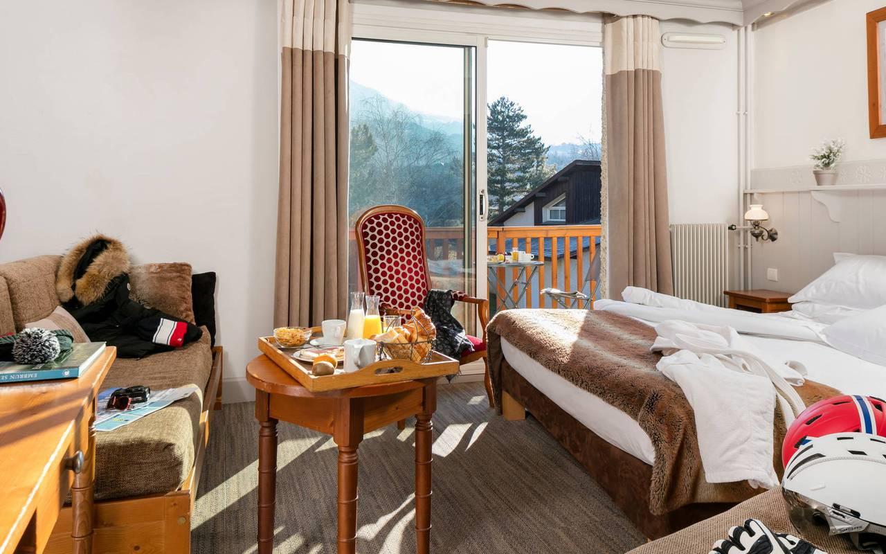 Chambre agréable, hôtel spa Hautes-Alpes, Les Bartavelles
