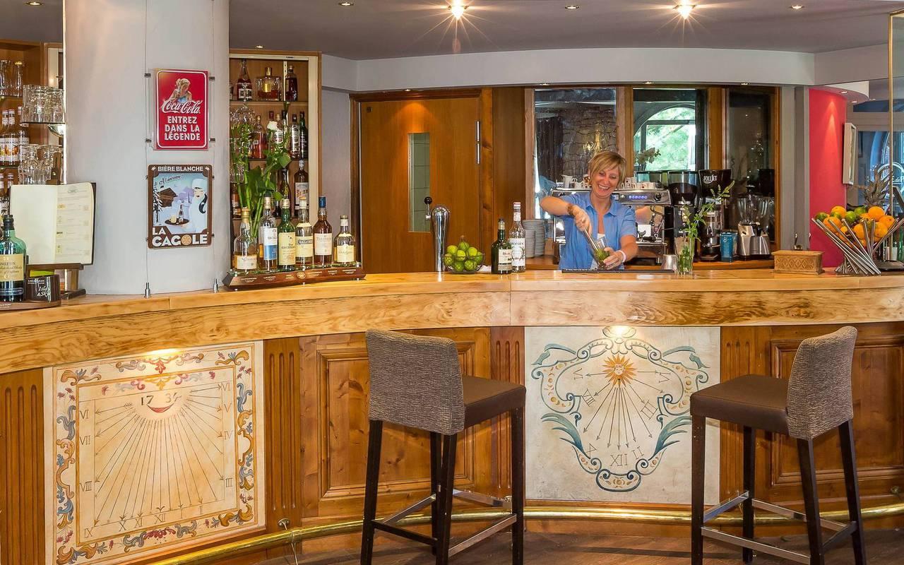 Bar, hôtel de charme hautes-alpes, Les Bartavelles