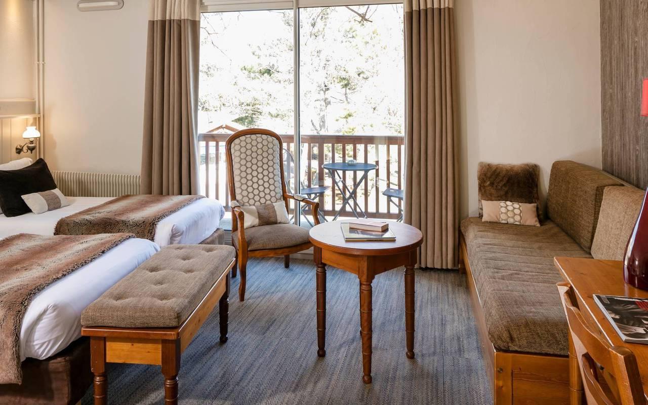 Chambre avec vue, hôtel de charme hautes-alpes, Les Bartavelles