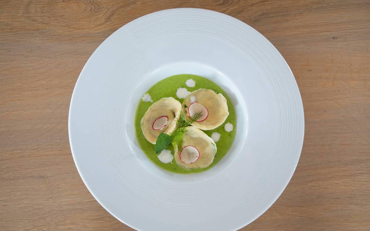Plat gastronomique, restaurant bar Embrun Serre Ponçon, Les Bartavelles