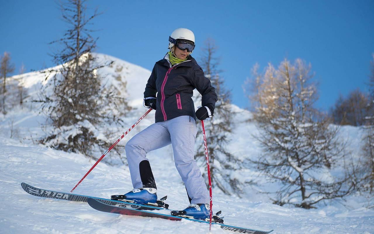 Skieur, séjour vacances Embrun, Les Bartavelles